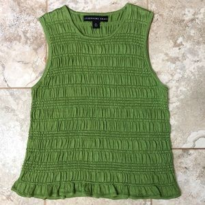 Josephine Chaus Green Knit Sleeveless Top